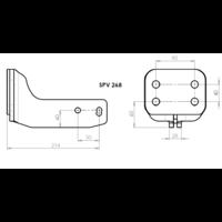 SPV 268 Adaptateur platine 4 trous