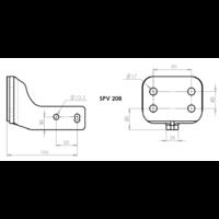 SPV 208 Adaptateur platine 4 trous