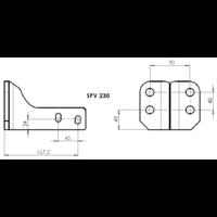 SPV 230 Adaptateur platine 4 trous