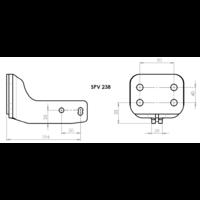 SPV 238 Adaptateur platine 4 trous