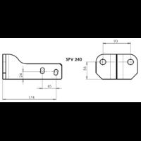 SPV 240 Adaptateur platine 2 trous