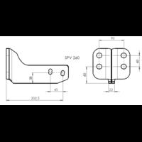 SPV 260 Adaptateur platine 4 trous