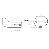 SPV 248 Adaptateur platine 2 trous