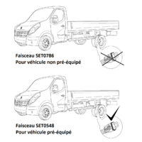 SET0548 Faisceau spécifique Master 3 Châssis Cabine pré-équipé