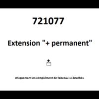 Extension +permanent et +après contact 13 broches