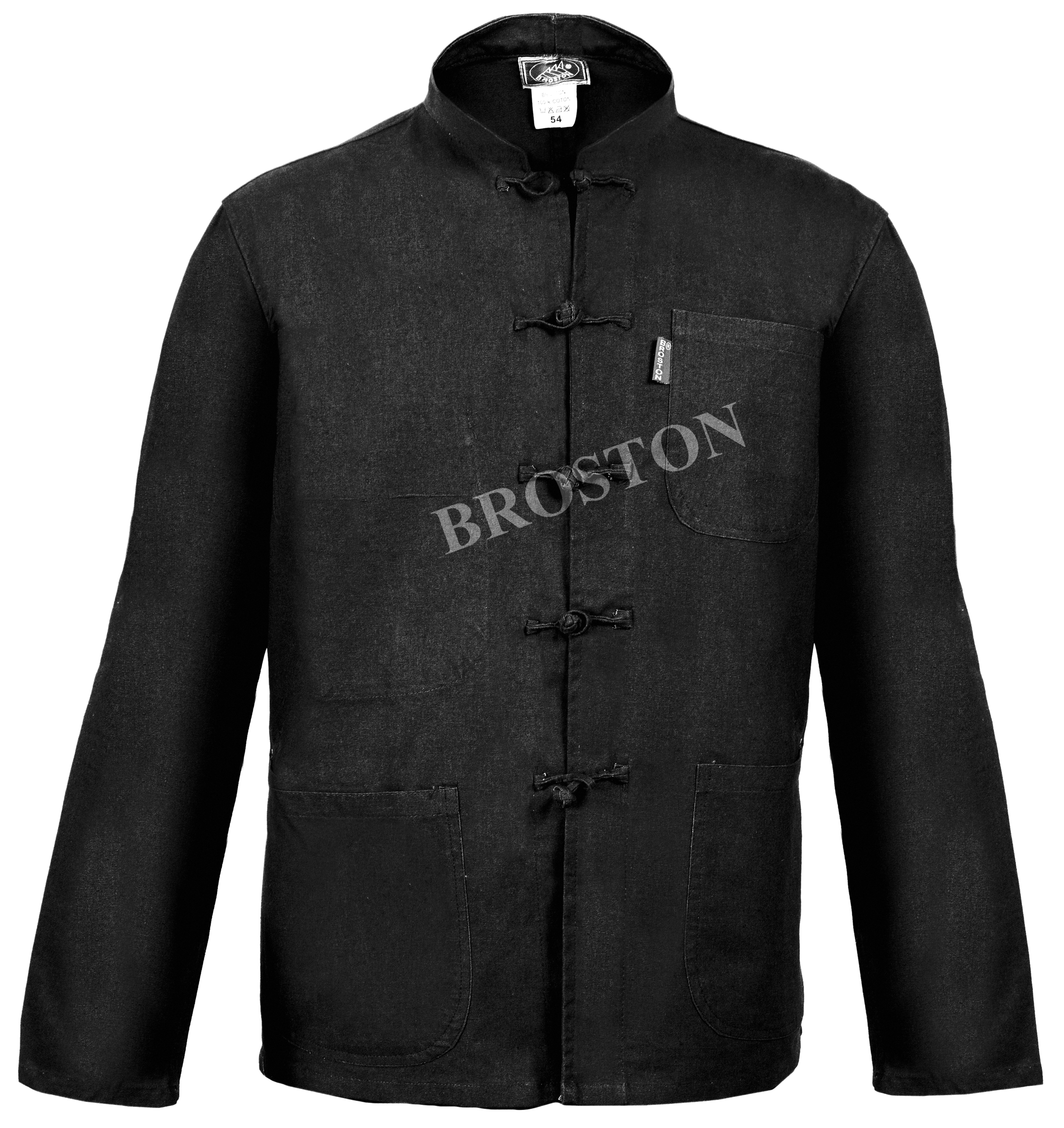 veste col mao noir bleu de chine top pro. Black Bedroom Furniture Sets. Home Design Ideas