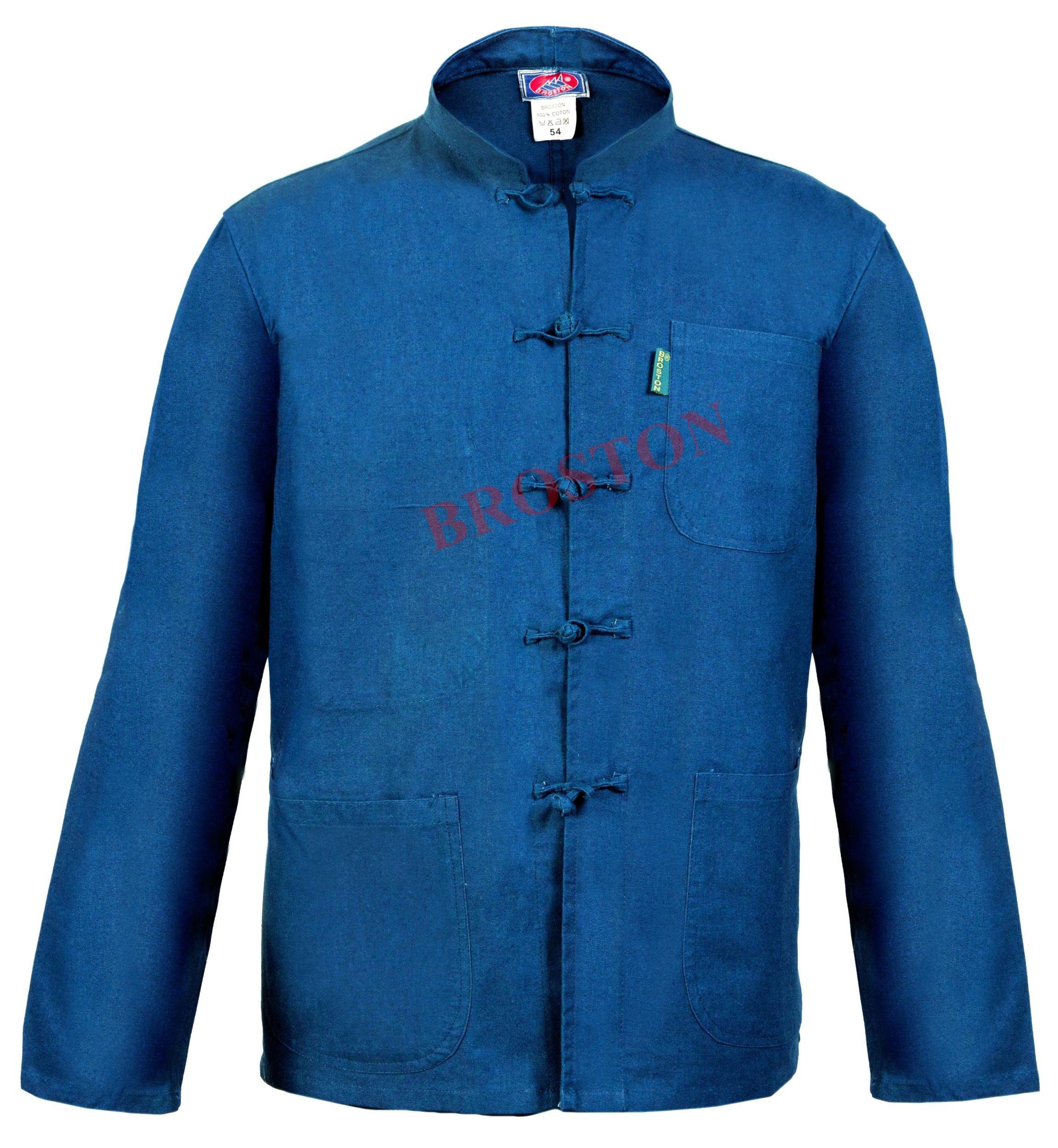 veste bleu de chine col mao bleu de chine top pro. Black Bedroom Furniture Sets. Home Design Ideas