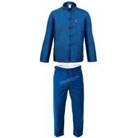 Ensemble Bleu de Chine Col Mao