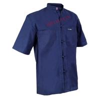 Chemise Bleu de Chine Col Mao