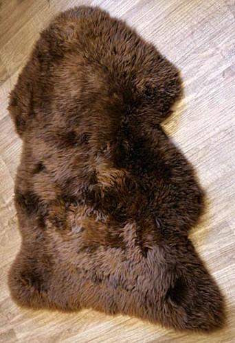 Peau de mouton marron