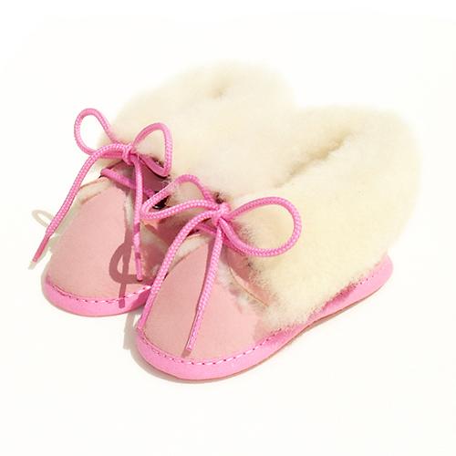 Chaussons bébé en peau de mouton