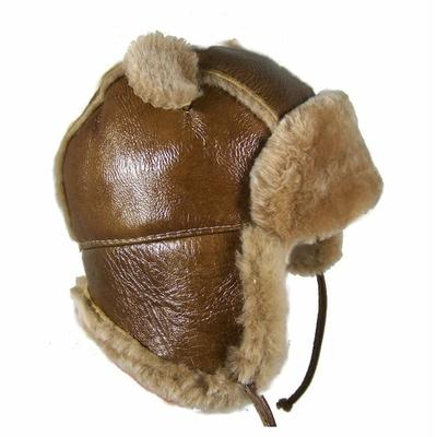 Chapka bébé en peau de mouton lainée
