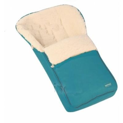 Chancelière bébé en laine de mouton WOMAR N°6 Standard Bleu turquoise