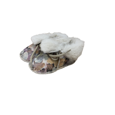 Chaussons Bébé en peau de mouton Fantaisie Fleurs
