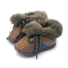 chausson-bebe-fantaisie-fourree-point-marron-agnellina.com