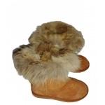 Boots / Bottes fourrées en peau de mouton avec rebord en fourrure de renard  du 36 au 42.