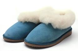 chaussons bleu