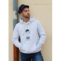 SWEAT VINTAGE GRIS BRODÉ