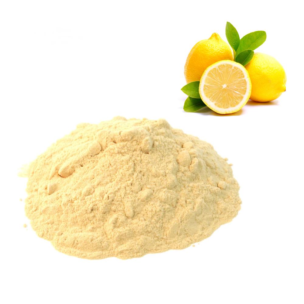 poudre de citron jaune cru et bio