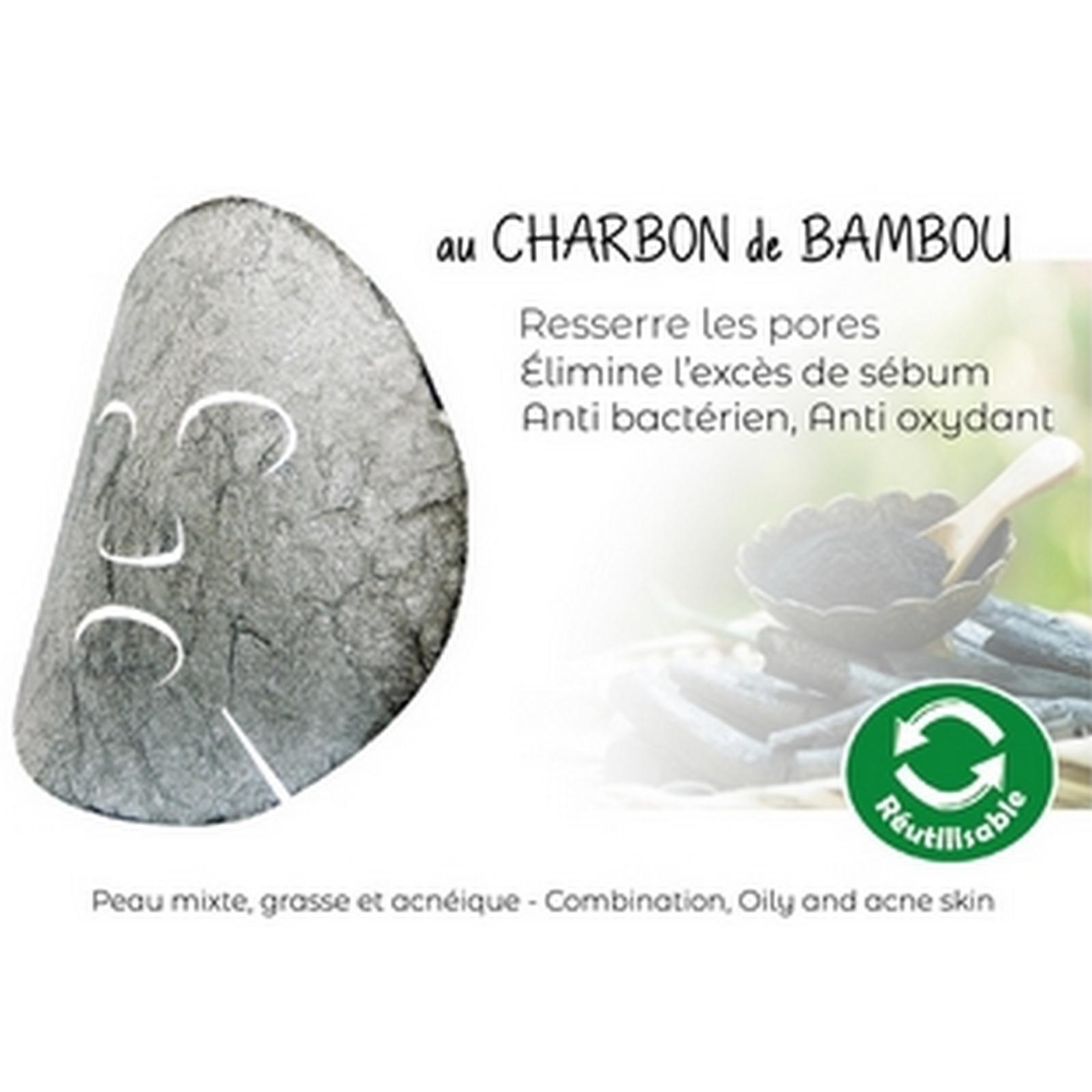 Masque Konjac au Charbon de Bambou