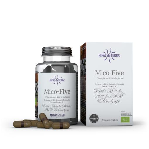 Champignon - Mico-Five - 5 champignons - Bio - 70 gélules - 745 mg