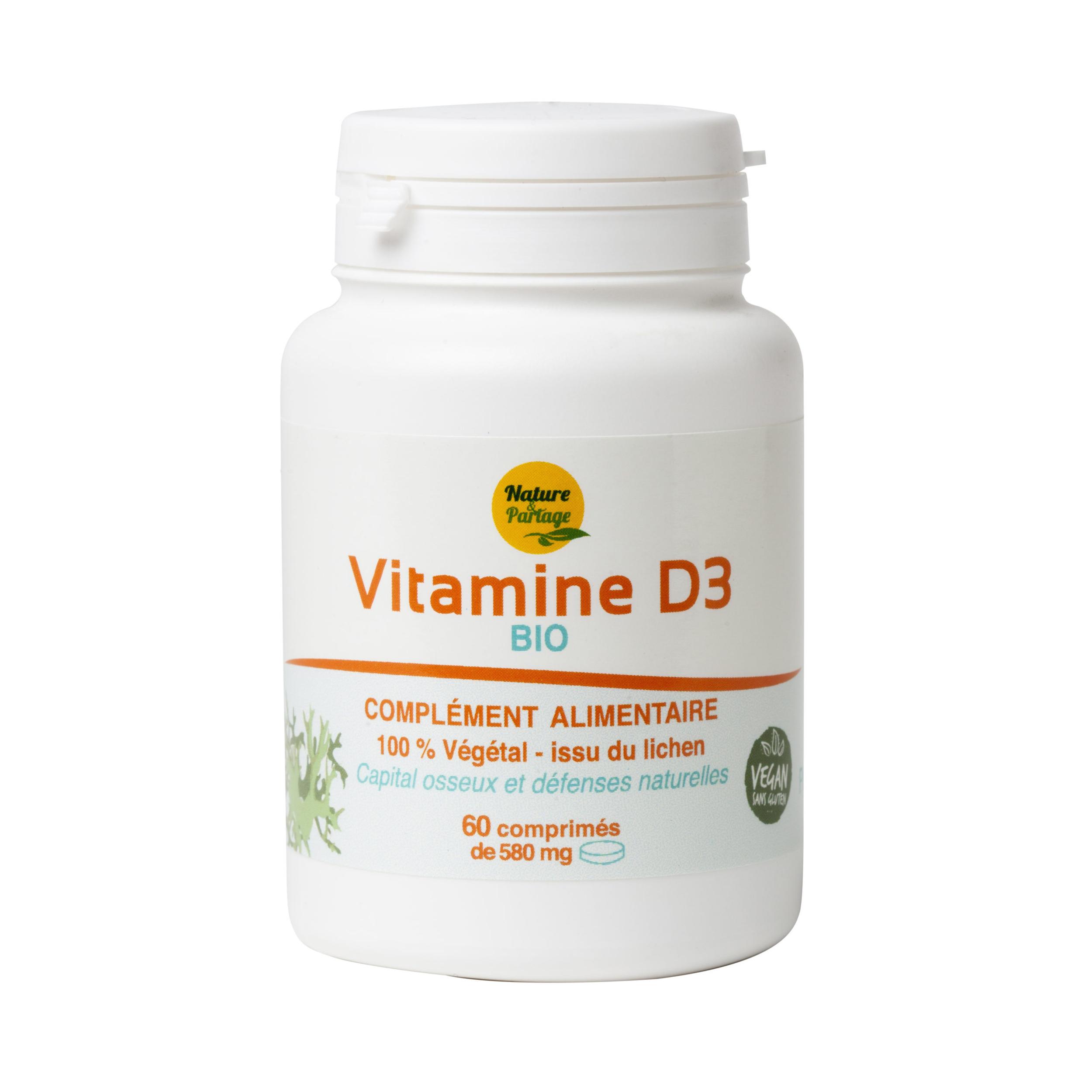 Vitamine D3 bio – 60 comprimés