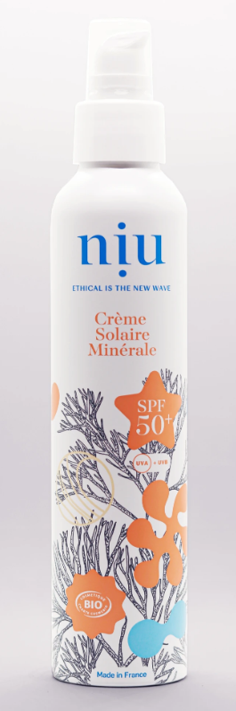 Crème Solaire Minérale Bio - SPF 50+ - NUI - Made in France - 100 ml