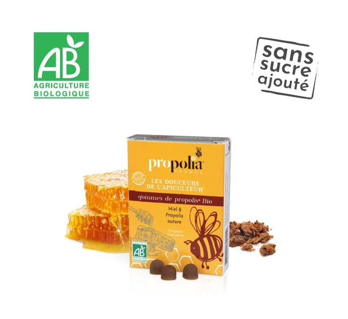 Gommes Propolis & miel bio - propolia - Santé Bio Europe