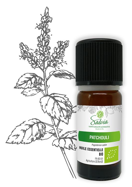 Huile essentielle au patchouli Bio - 10 ml