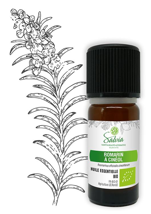 Huile essentielle au Romarin à Cinéol Bio - 10 ml