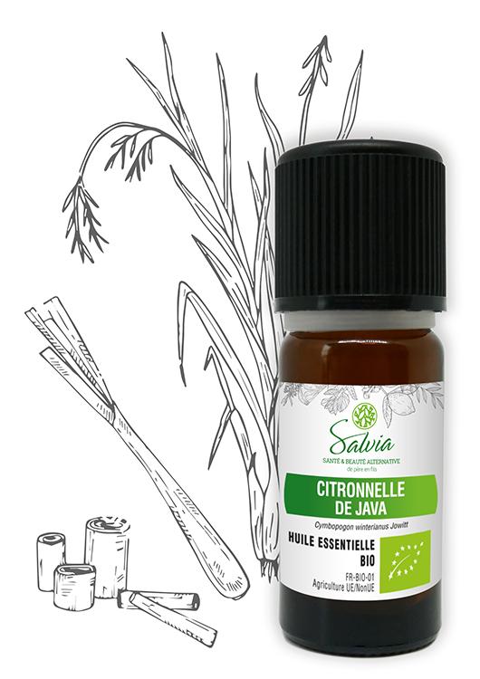 Huile essentielle à la citronnelle de Java Bio - 10 ml