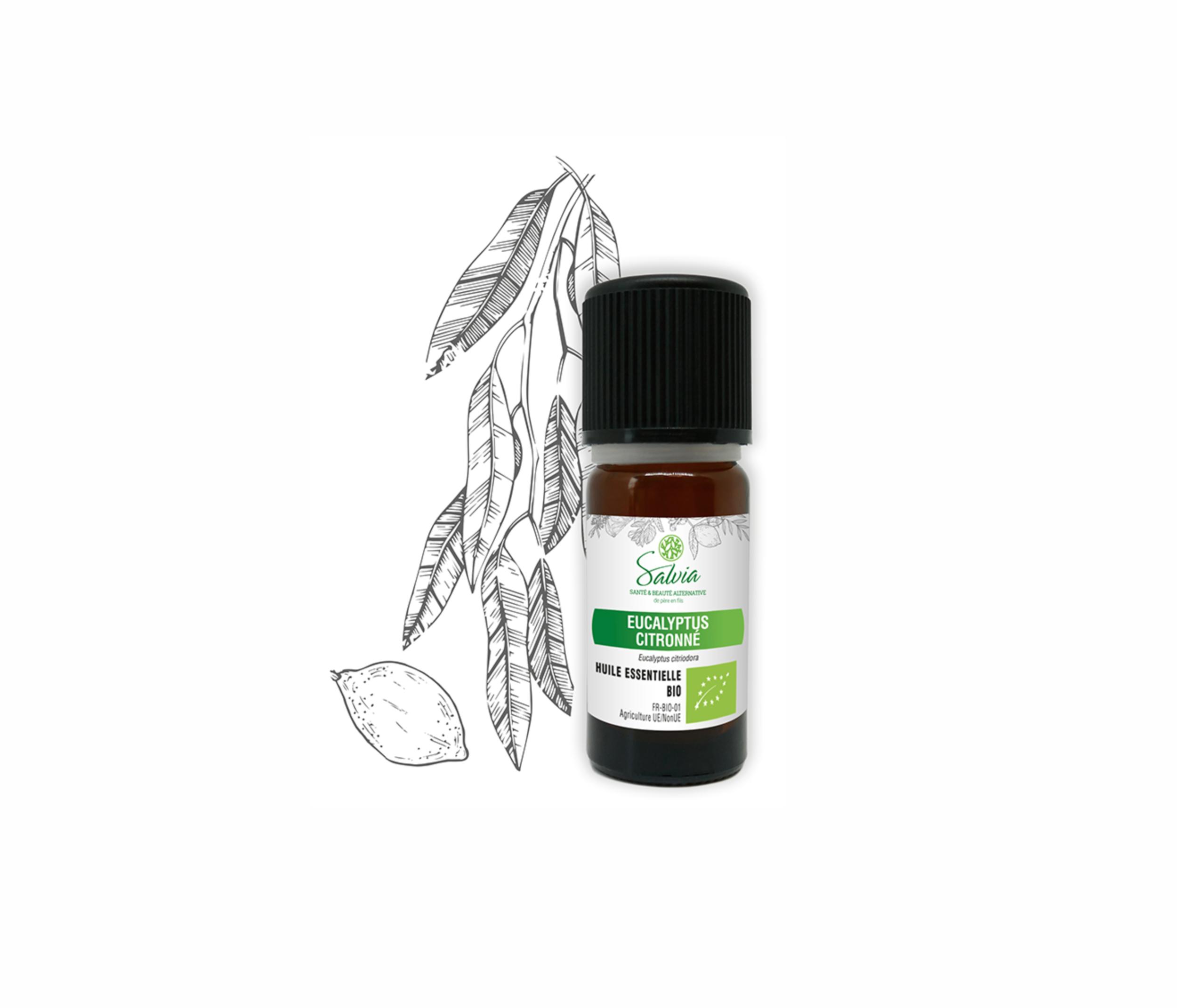 Huile essentielle à l\'Eucalyptus Citronné Bio - 10 ml