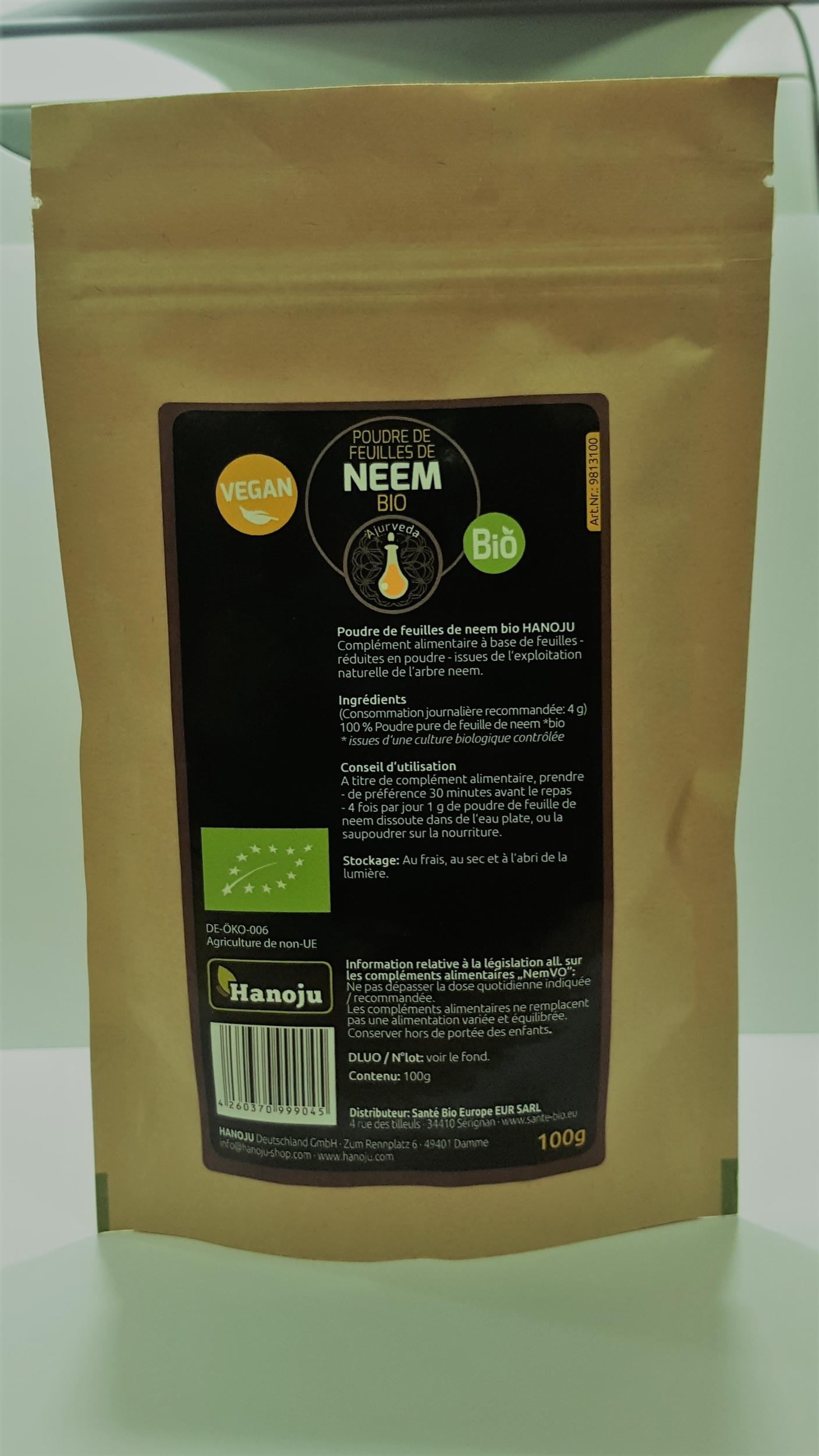 Feuilles de Neem Bio en poudre - 100 g