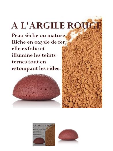 Eponge Konjac - Argile Rouge