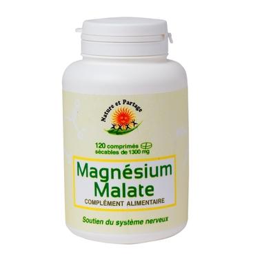 Magnésium malate - 120 comprimés sécables - 1 300 mg