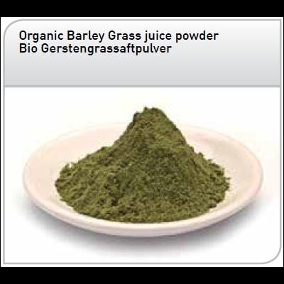 Jus d'herbe d'Orge crue et Bio en poudre