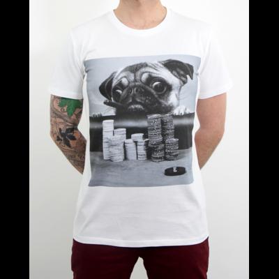 Tshirt Homme gambling Pug