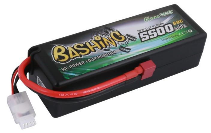 Gens ace Batterie LiPo 4S 14.8V-5500-50C(Deans) 139x46x49mm 460g, GE3-5500-4D