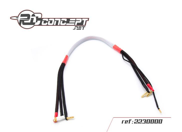 RC Concept cordon de charge 600mm prise 4&5 mm pour Lipo 2S, 2230000