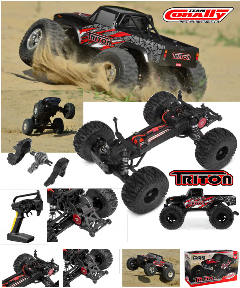 CORALLY TRITON XP 2WD MONSTER TRUCK 1/10 BRUSHLESS RTR, C-00251