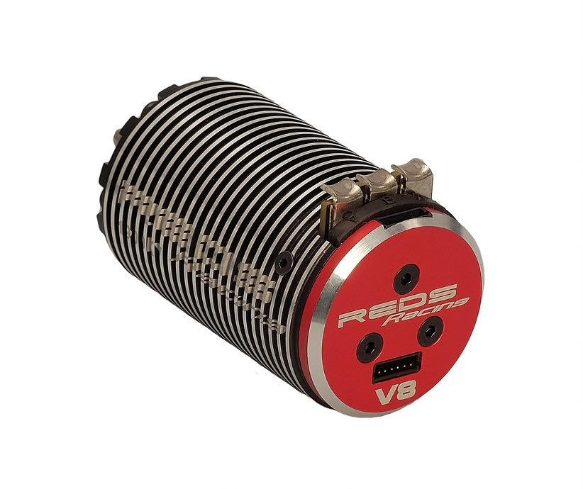 Reds Moteur Brushless V8 1900KV 4 Poles Sensored G2, MTEG0004