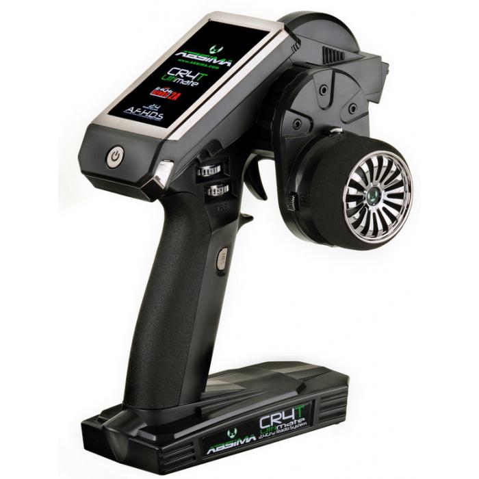 ABSIMA Radiocommande à volant  4 voies CR4T Ultimate 2.4Ghz + récepteur R4WP, 2000005