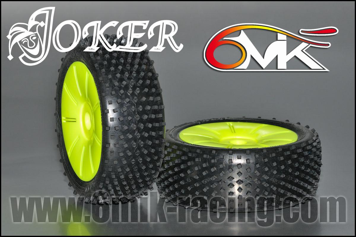 6MIK Pneus Joker + Jantes Ultra jaunes 15-25° TUY121525