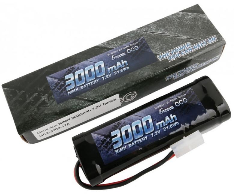 GENS ACE Accu NiMh 7.2v 3000mAh Tamiya, GE2-3000-1TA