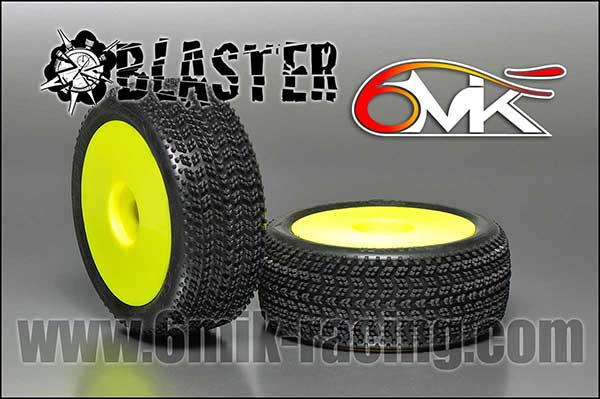 6MIK Pneus Blaster + Jantes Ultra Jaunes 15-25°, TUY91525