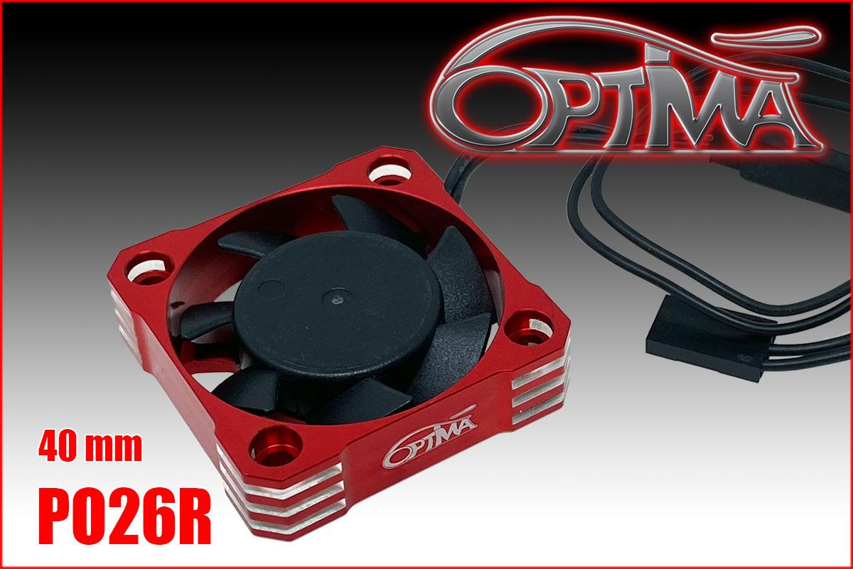 Optima Ventilateur Aluminium 30x30 Rouge PO21R