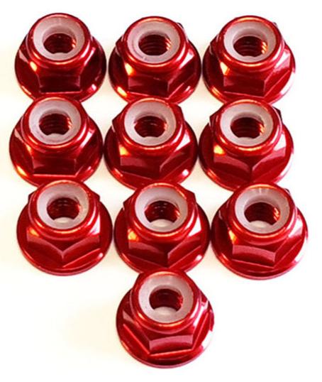 DONUTS-RACING Ecrou Nylstop M4 Epaulé Rouge (10) DONV-0126