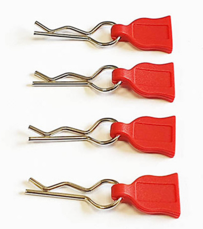 DONUTS-RACING Clips de carro avec languette ROUGE (4) DONA-0017