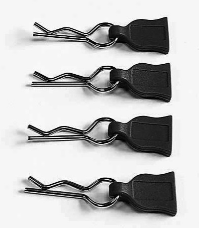 DONUTS-RACING Clips de carro avec languette NOIR (4) DONA-0015
