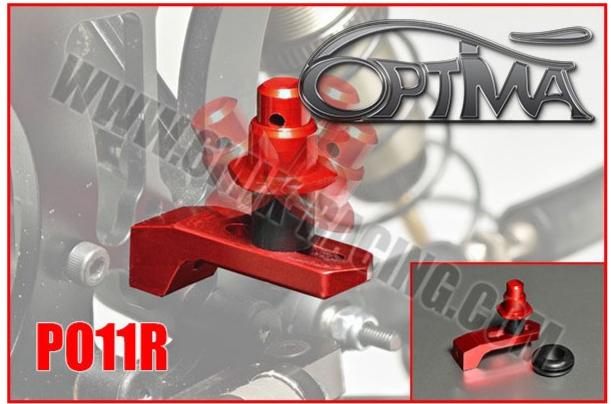 Optima Support de Carrosserie Arrière sur Silent-Bloc Rouge PO11R